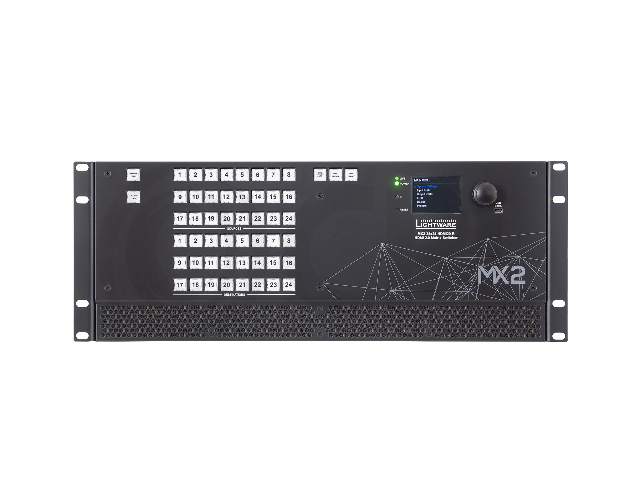 MX2-24x24-HDMI20 Front