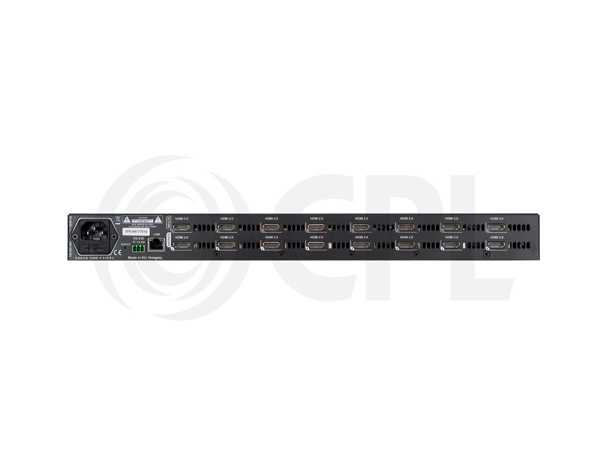 MX2-8X8-HDMI20-L Back